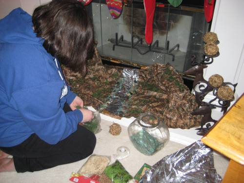 presepe-building-with-our-italian-afs-exchange-student-francesca
